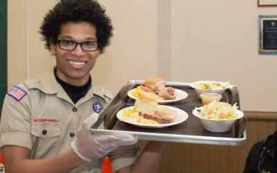 Volunteer serves