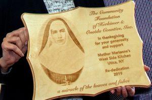 Mother Marianne's West Side Kitchen plaque