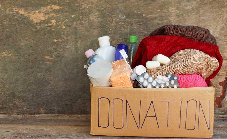 Box of toiletries donation