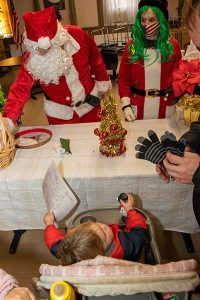Child meets Santa