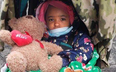 Child with Valenine Teddy Bear